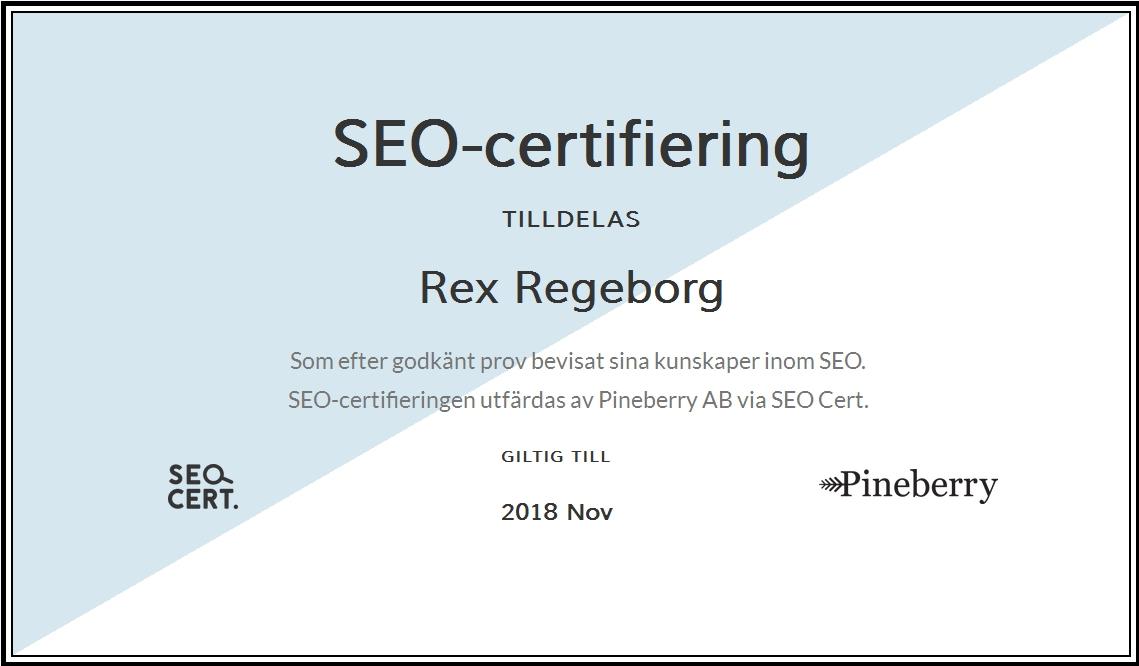 Numera SEO-certifierad